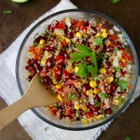 Simple Spicy Quinoa Bean Salad