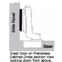 European Cabinet Concealed Self Close Inset Hinge for