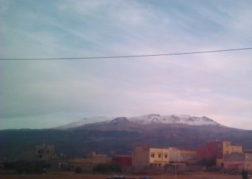 The Atlas Mountains in the background.