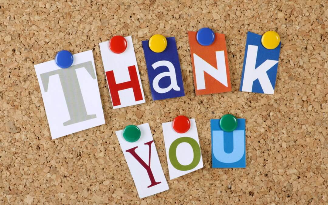 The Power of Saying Thank You - Happy Thanksgiving From EB