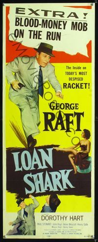 1q410 LOAN SHARK insert '52 George Raft, Dorothy Hart, the inside on today's most despised racket!