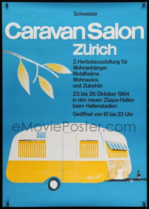 eMoviePoster 1k064 CARAVAN SALON 36x51 Swiss special poster