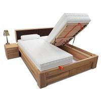 VERONA Bett 180x200 Kernbuche Kopfteil braun mit ...