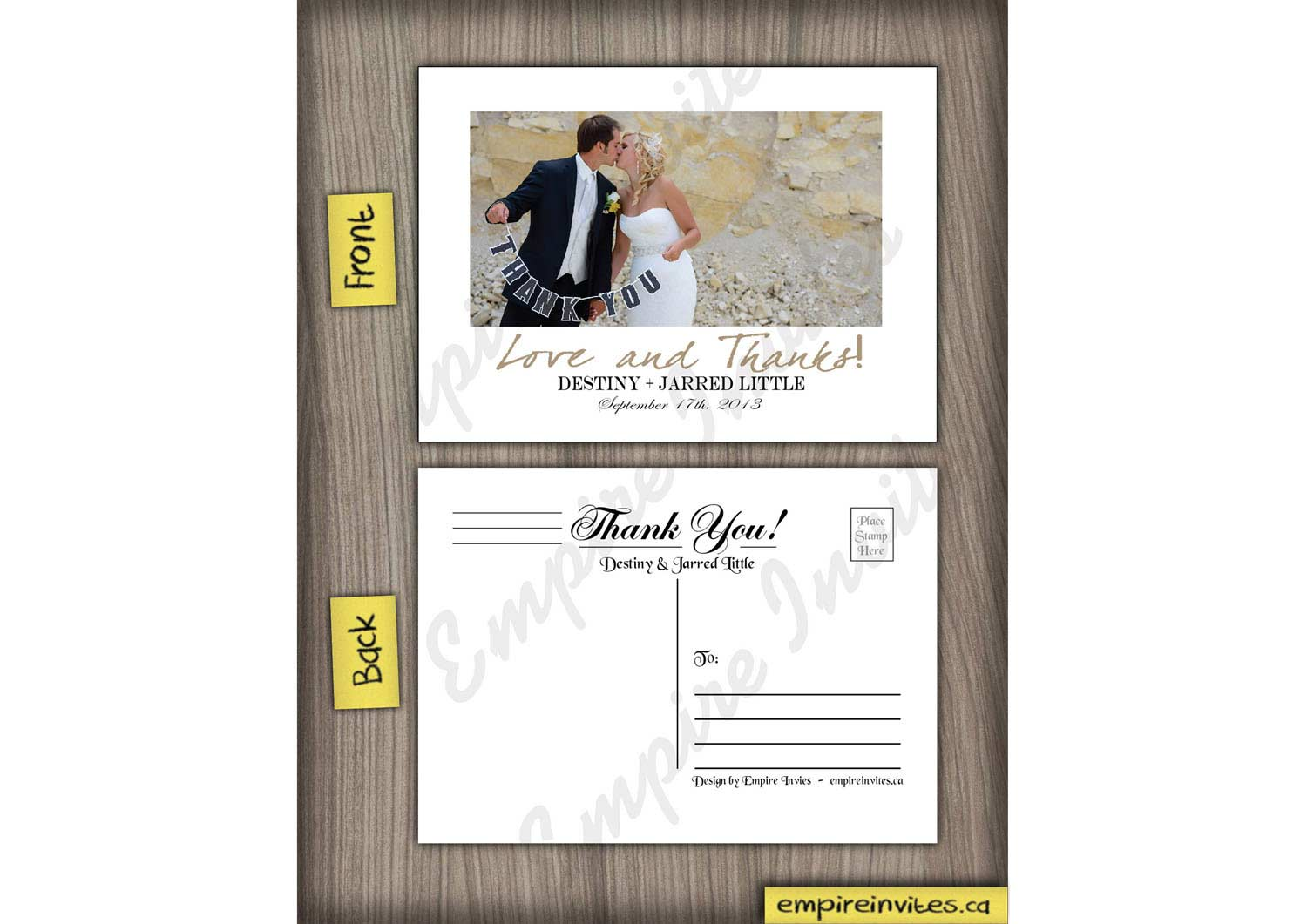 Wedding Thank You Cards Modern Wedding Invitations From