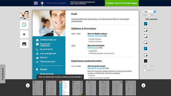 emploi store creation de cv