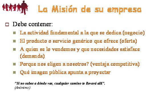 Misi n visi n y valores parte 1 misi n emprendedores for Empresa de cubiertas y tejados