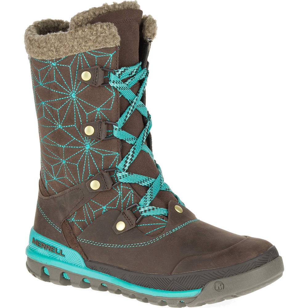 Merrell Women39s Silversun Lace Waterproof Boots Bracken