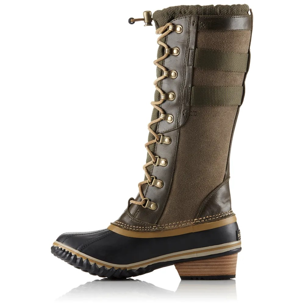Sorel Womens Conquest Carly Ii Boots Peatmoss Eastern