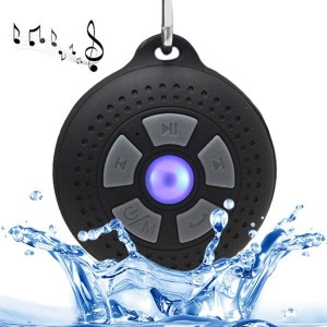 Mini enceinte portable waterproof Bluetooth main libre micro SD Noir