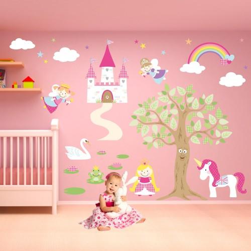 Baby Girl Nursery Wallpaper Uk Luxury Fairy Princess Nursery Wall Stickers
