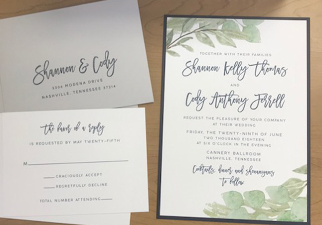 Fresh, Modern Wedding Invitation Designs for 2018! Enchanted Brides