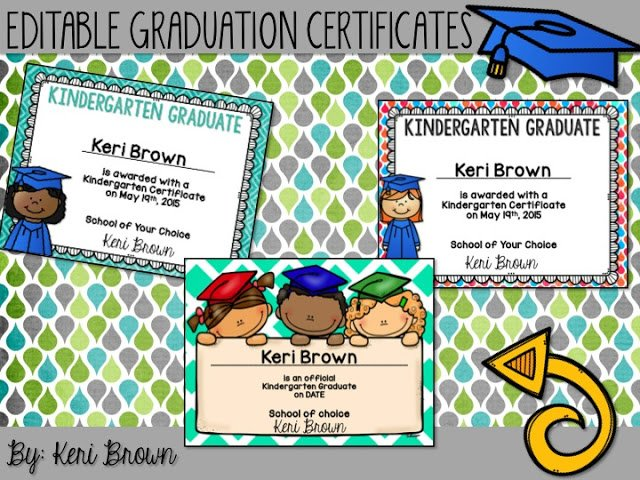editable kindergarten graduation certificates - Minimfagency