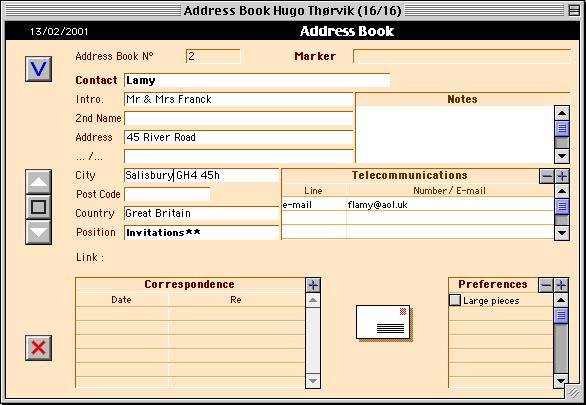 Encyclia-A Artist\u0027s Studio software - software for address book