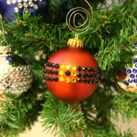 DIY Rhinestone Ornaments