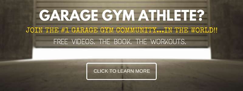 Garage Gym Athlete CTA