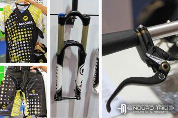 """Magura présentait lors du dernier Eurobike sa nouvelle tenue Enduro, l'arrivée des freins milieu de gamme MTS (mix entre MT6 et MT4) ainsi que la nouvelles appelation """"TS"""" des ses fourches 26/27.5 et 29 pouces."""