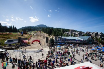The finish area in the centre of town. EWS 6 2014 Whistler. Photo by Matt Wragg