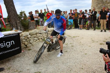 Yannick Pontal repart heureux heureux et sous le regard envieux des 199 autres participants