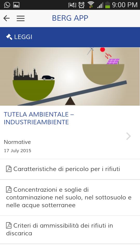 Berg App - Normative
