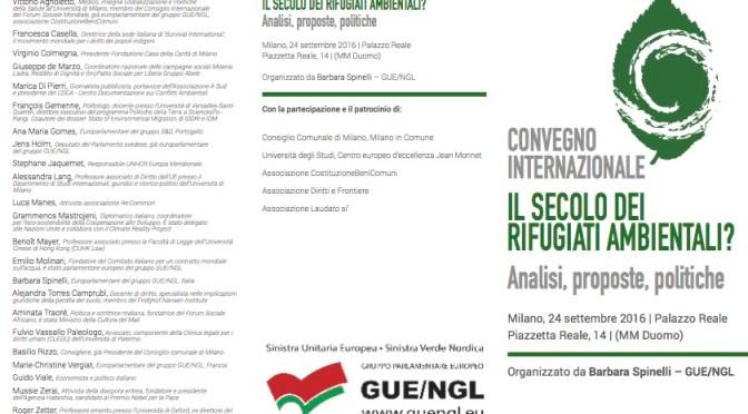 Il secolo dei rifugiati ambientali? – Convegno a Milano