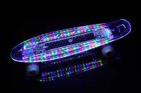 MAKANIH LED Skateboard mit Leuchtrollen, leuchtend, Stahl ...
