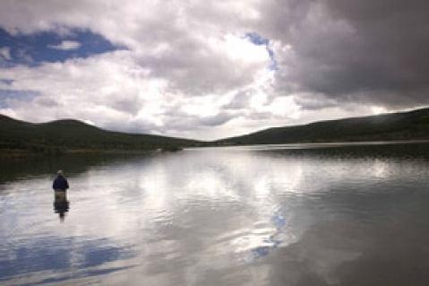 Pêcheur en norvège voyage famille