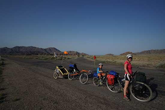 Kirghizistan-vélo-famille