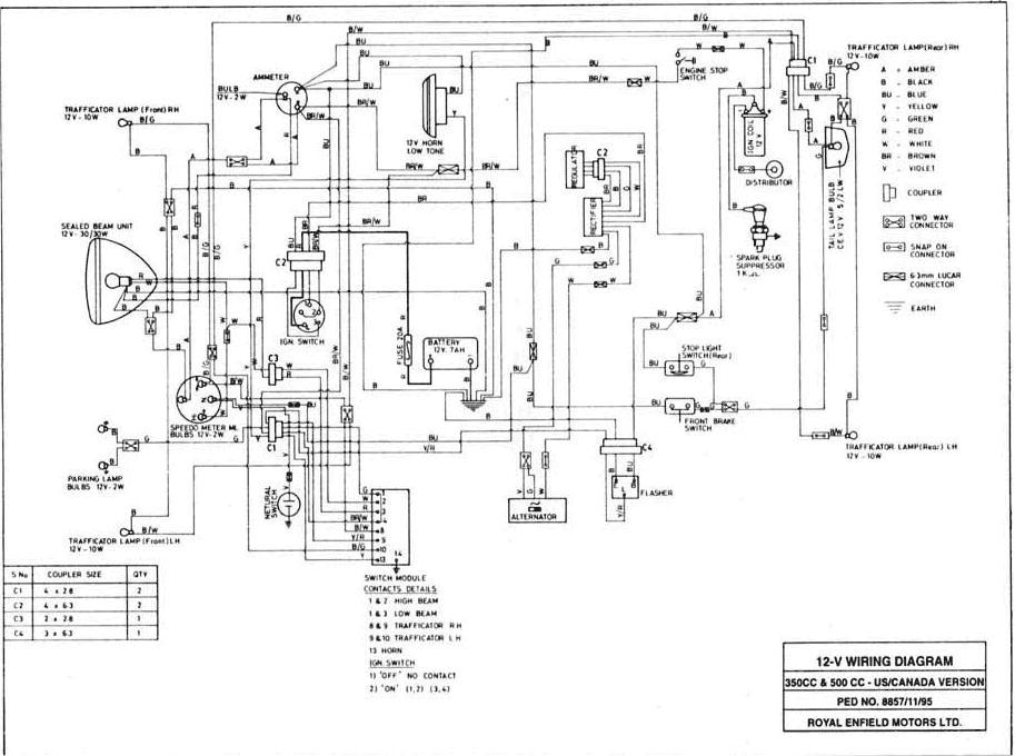 yamaha rz350 wiring diagram