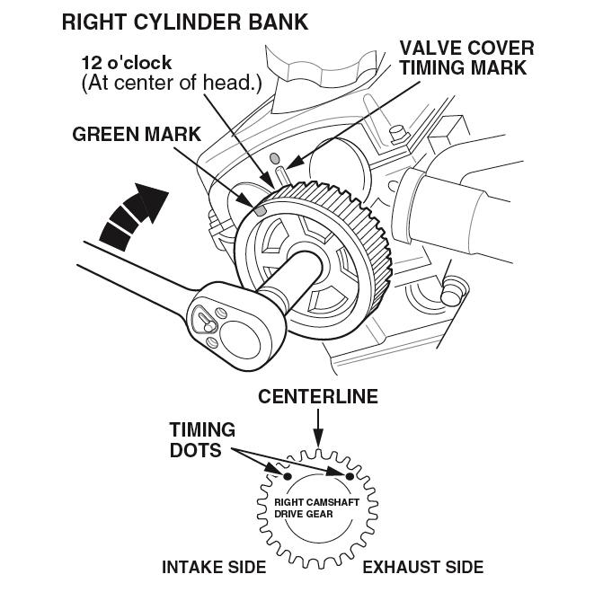 1998-2002 Honda 32L V6 Camshaft Subgear Preloading - Engine Builder