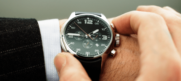 Wearing a watch to keep time can help keep you safe.