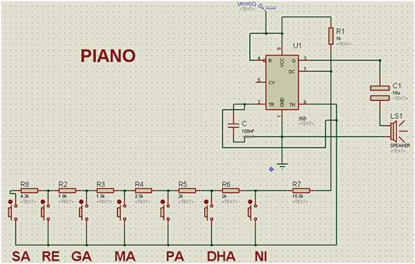 Building an Electronic Piano using 555 Timer IC EngineersGarage