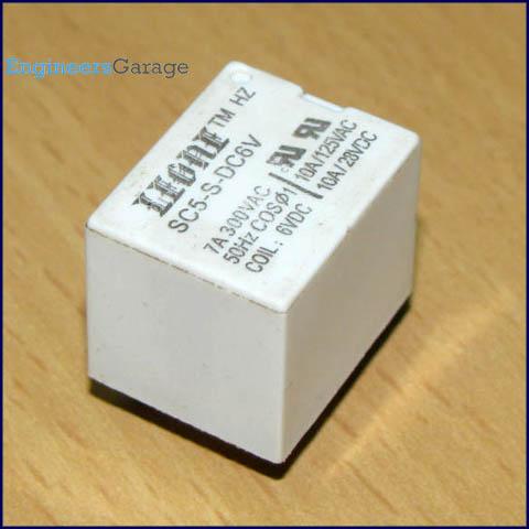 Relay Switch Pin Diagram  Description