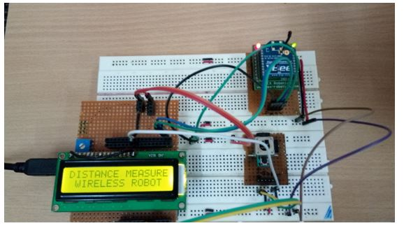 Xbee - Wireless Joystick Control and Distance Measuring Robot