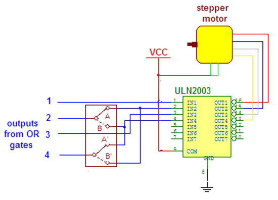 Wireless Speed Control of Stepper Motor using Laser Sensor and 555 IC