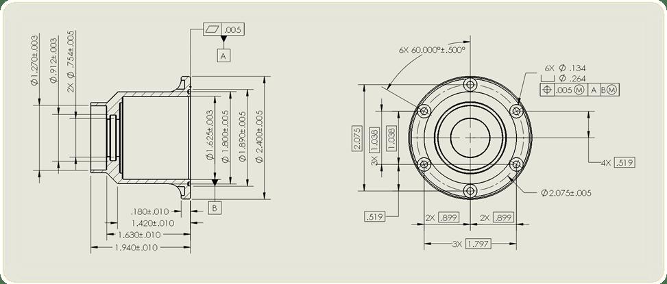 engineering diagram symbol for depth of hole