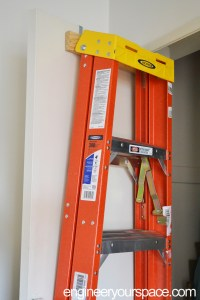 DIY over-the-door ladder holder | Smart DIY Solutions for ...