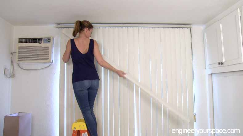 How To Hang Curtains To Conceal Vertical Blinds Smart