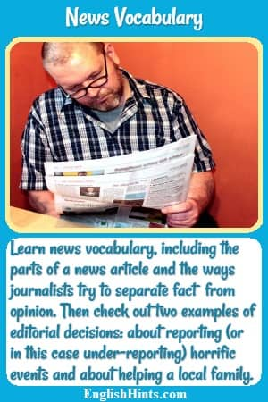 News Vocabulary Newspapers and Editorial Decisions