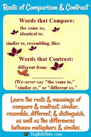 Roots of Comparison and Contrast
