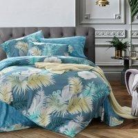 Rustic Chic Fern Leaf Print Tropical Style Bedding Sets ...