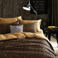 Black and Coffee Brown Leopard Print Sexy Style Luxury ...