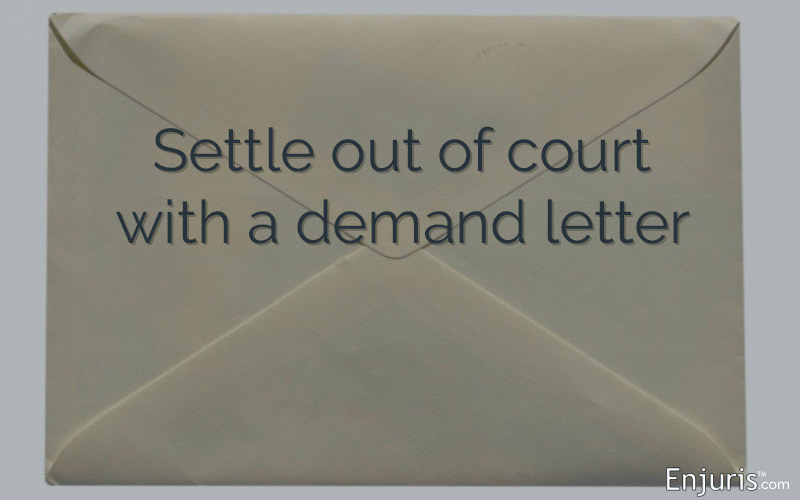 Payment Demand Letter to Settle Personal Injury Case Out of Court - demand letter