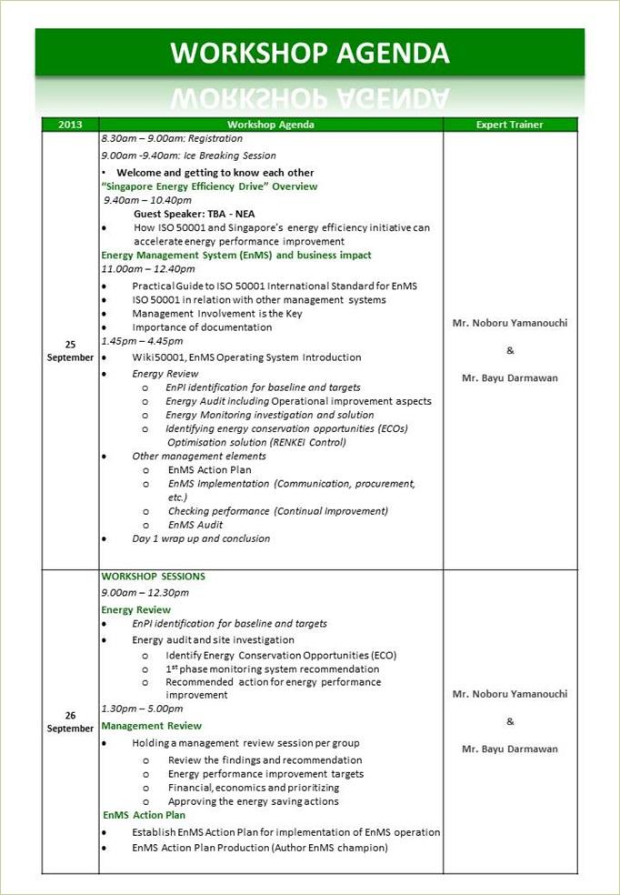 Training meeting agenda template - visualbrainsinfo