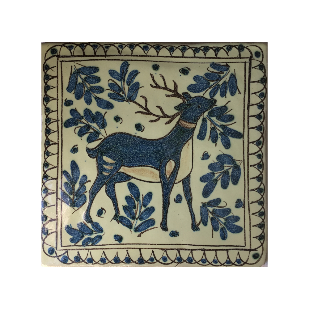 Homewares Italian Ceramic Tile Deer