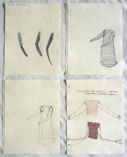 Jana Sterbak, I Want you to Feel the Way I Do, 1984 - 1985. Encre sur papier Prêt de l'artiste © Jana Sterbak