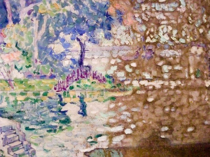 """Detail de la restauration sur le panneau """"à la cheminée"""""""