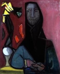 Édouard Pignon, Catalane, 1946 Huile sur toile 81 x 65 cm Collection particulière. Photographie : Tous droits réservés ADAGP 2013.