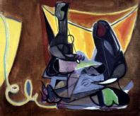 Édouard Pignon, Les remailleuses de Collioure, 1945 Huile sur toile 53,5 x 65,5 cm Collection Musée Antoine Vivenel, Compiègne. Photographie : Hutin/musée Antoine Vivenel, Compiègne/ADAGP 2013.
