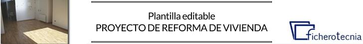 Plantilla proyecto reforma de vivienda