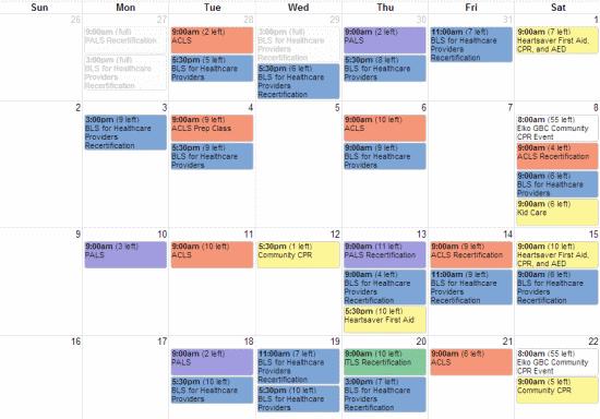 Schedule Calendar Maker Calendar And Schedule Templates Online Class Registration And Management Software For
